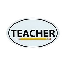 "Refrigerator Magnet - Teacher w/Pencil - Oval Shaped Support Magnet - 6""... - €5,97 EUR"