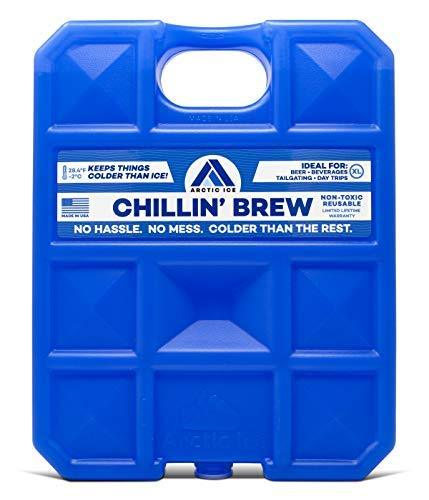 ARCTIC ICE Chillin Brew Series Reusable Cooler Pack, Reusable Ice Packs for Cool