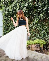 New white maxi long pleated skirt full length women fall autumn spring s... - $38.00