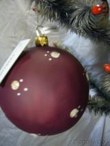 Vaillancourt Folk Art Jingle Ball Ornament  Classic American Santa with Tree image 2