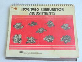 1979 1980 Ford Carburetor Adjustment Service Repair Manual OEM YFA 1-V 1... - $4.05