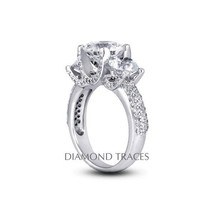 1.49ct D-VS2 Ideal Round AGI Genuine Diamonds 950 Plat. Vintage 3-Stone ... - $3,726.36