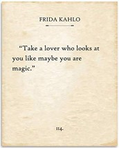 Frida Kahlo - Take A Lover - 11x14 Unframed Typography Book Page Print - Great I