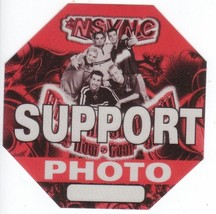 N SYNC backstage Satin Cloth PASS tour collectible SUPPORT PHOTO - $11.39