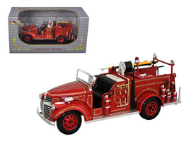 1941 GMC Fire Engine Truck Red 1/32 Diecast Model Car by Signature Models - $35.62