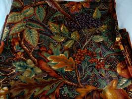 "Sharon Kessler Fall colors fruit Pheasant Autumn Thanksgiving Fabric 56""... - $17.81"