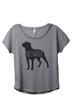 Thread Tank Rottweiler Dog Silhouette Women's Slouchy Dolman T-Shirt Tee... - $24.99+