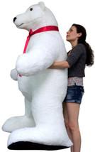 Giant Stuffed Polar Bear 5 Feet Tall Huge Stuffed Animal Made in USA Ame... - $387.22