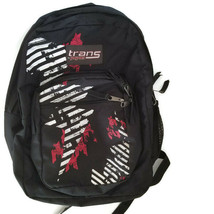 Trans by JanSport Backpack Black White Red Bookbag - $24.99