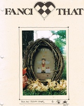 Set of Three Folk Art Angel Cross Stitch Charts by Fanci That - $7.75