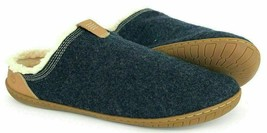 Timberland Mens Torrez Scuff Navy Wool Faux fur Slippers loafers ALL SIZ... - $34.89