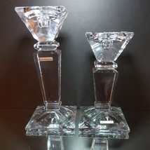 """2 FORMANO ITALIAN Heavy Lead Crystal Candle Holders (3""""-1"""" Size) in 2 Sizes - $47.49"""