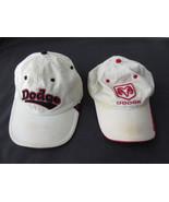 Lot of 2 Vtg Dodge Motorsports Ram Baseball Cap Hat Adjustable Strap Dis... - $6.79