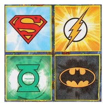 Justice League Dessert Beverage Napkins  16 Count Birthday Party Supplies - $5.89