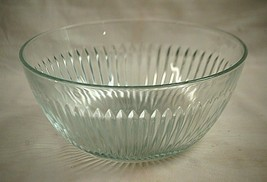KIG Clear Glass 10' Mixing or Fruit Bowl Ribbed Sides Starburst Bottom M... - $46.52