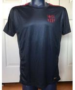 FC Barcelona Barca Jersey Men's Soccer Futbol FCB LARGE L navy magenta - $24.72