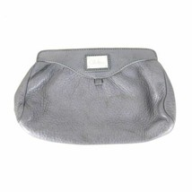 Cole Haan Small Gray Pebbled Leather Magnetic Closure Clutch Bag 0409AS - $30.00