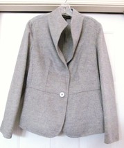 Talbots Wool Blend Jacket 1 Button Gray Women's Size 10 Nwt - $89.95