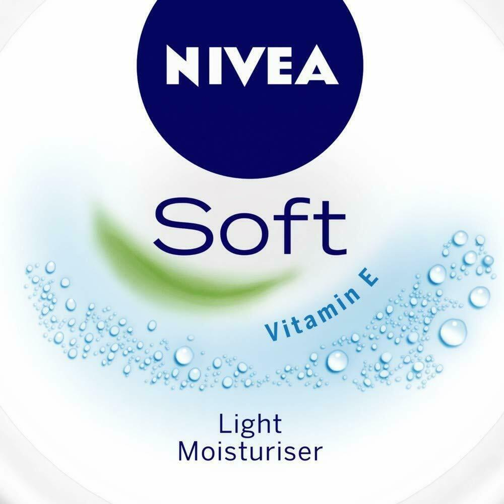 NIVEA Soft Light Moisturiser With Vitamin E 100ml Free Shipping  image 1