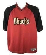 Arizona Diamondbacks Shirt D-Backs V-neck Size Medium M Majestic Baseball MLB - $15.79