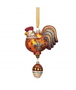 Reed & Barton 3 French Hens Glass Ornament Three Twelve 12 Days Of Chris... - $450.00