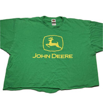 Fruit Of The Loom Adult Size 2XL John Deere Crop Top T Shirt Green Yello... - $19.73