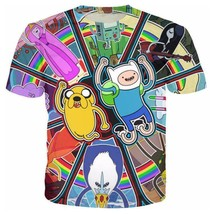 "Fashion Men/Women""s Adventure Time Anime 3D Print Casual T-Shirt Short S... - $33.80"