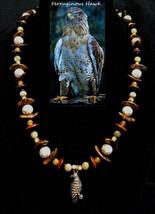 Ferruginous Hawk custom artisan handcrafted  genuine red aventurine, vei... - $100.00