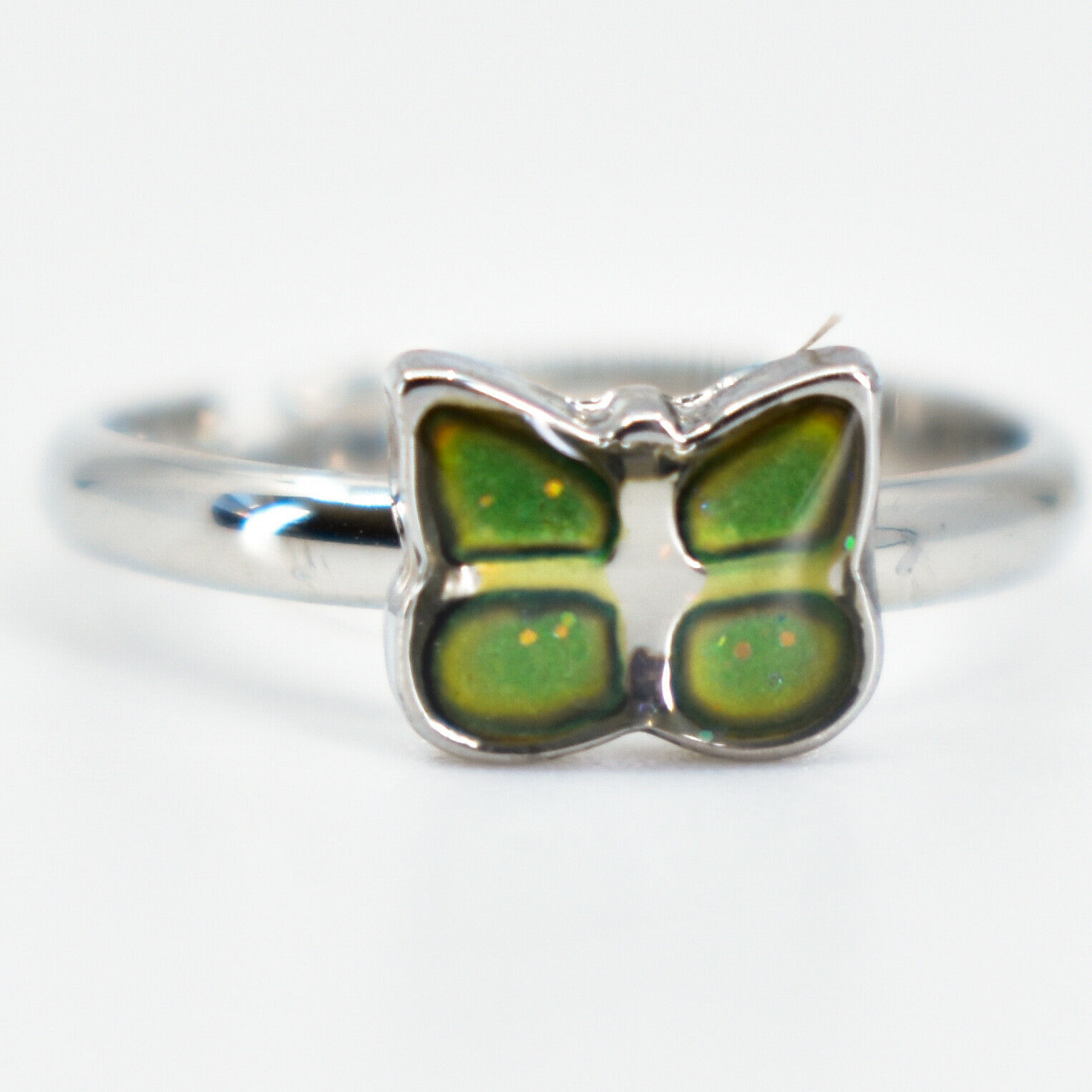 Kid's Fashion Mini Butterfly Color Changing Fashion Adjustable Mood Ring
