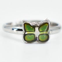 Kid's Fashion Mini Butterfly Color Changing Fashion Adjustable Mood Ring image 1