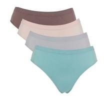 "Rhonda Shear ""Ahh"" Seamless Brief Panty 4-pack, Lights, 1X (581-075) - $18.80"