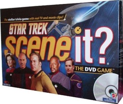 Mattel Star Trek Scene It? DVD Game with Real TV and Movie Clips - $27.27