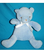 "Beansprout TEDDY BEAR 12"" Soft Toy Plush Blue Stuffed Chenille Sewn Eyes... - $17.39"