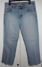 Silver Button Fly Straight Leg Cropped Jeans Size 32 x 26 - $17.99