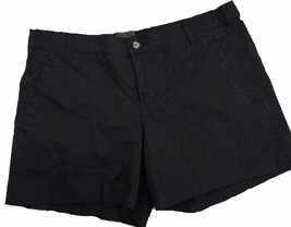 Calvin Klein Jeans Women's Linen Shorts Lightweight Black Sz 6 - $18.79