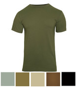 Solid Color Tactical T-Shirt Army Military Short Sleeve Tee Camping Outd... - $9.99+