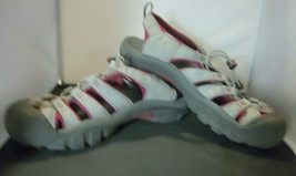 KEEN - Women's Grey/Burgandy Outdoor Waterproof Sandals - SIZE 11 - $31.95