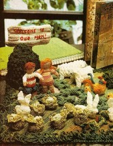 Z516 Crochet PATTERN ONLY Farm Yard Scene Animals Shed Yard Vegetables P... - $13.50
