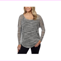 Olive & Oak Women's Dolman Tunic Sheer Marled Pullover - $7.70