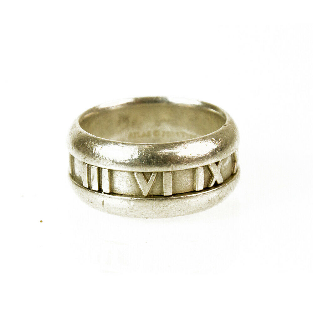 Tiffany and Co Atlas Collection Roman Numbers Silver 925 Ring