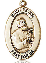 14 Kt Gold St. Peter the Apostle Medal with or without Chain - $664.05+