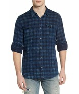 Mens John Varvatos Star USA Slim Fit Blue Plaid Sport Shirt NWT Size Small - $59.35