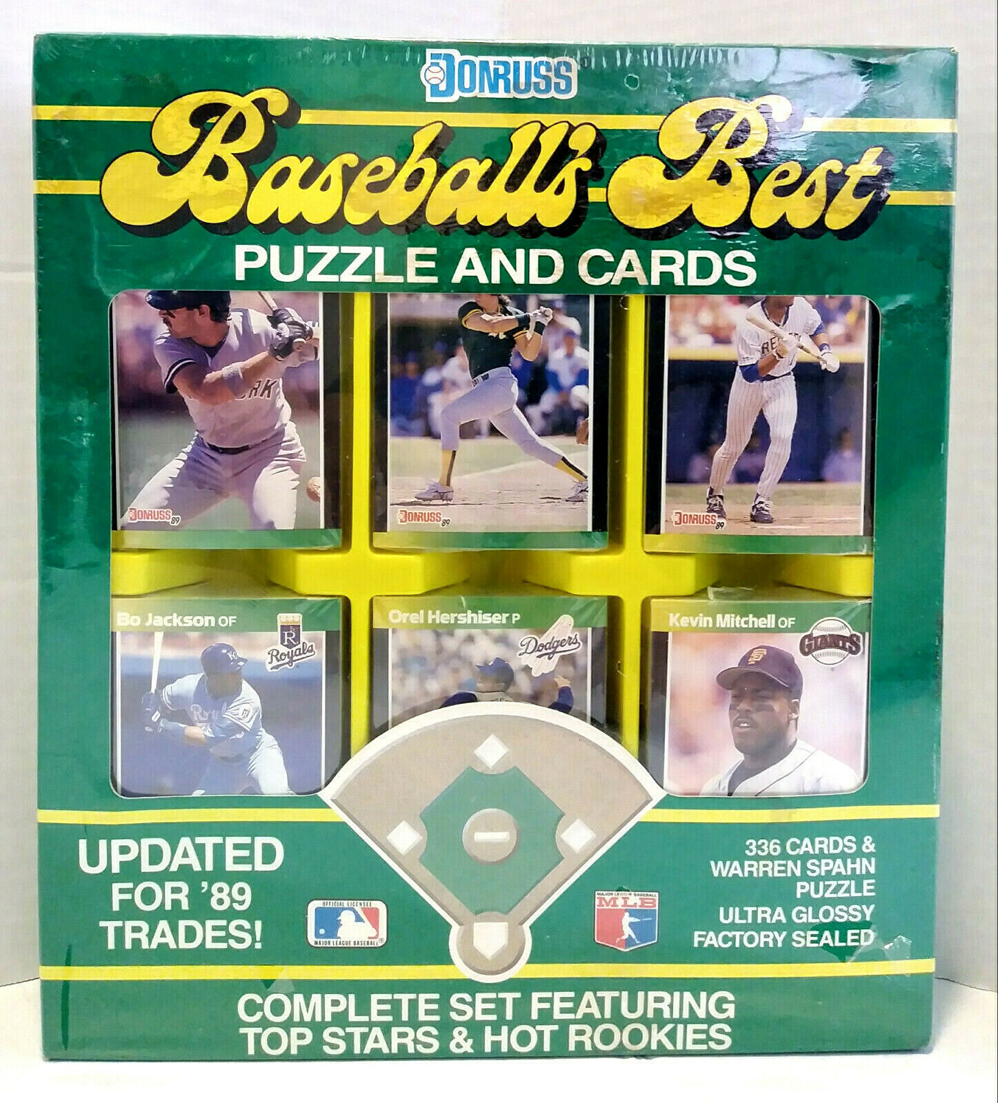 Primary image for 1989 Donruss Baseball's Best Puzzle And Cards Complete Set Griffey Jr New Sealed