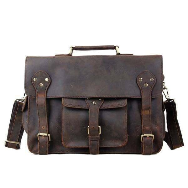 Sale, Leather Men Briefcase, Laptop Bag, Vintage CrossBody Bag, Messenger Bag