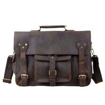 Sale, Leather Men Briefcase, Laptop Bag, Vintage CrossBody Bag, Messenger Bag image 1
