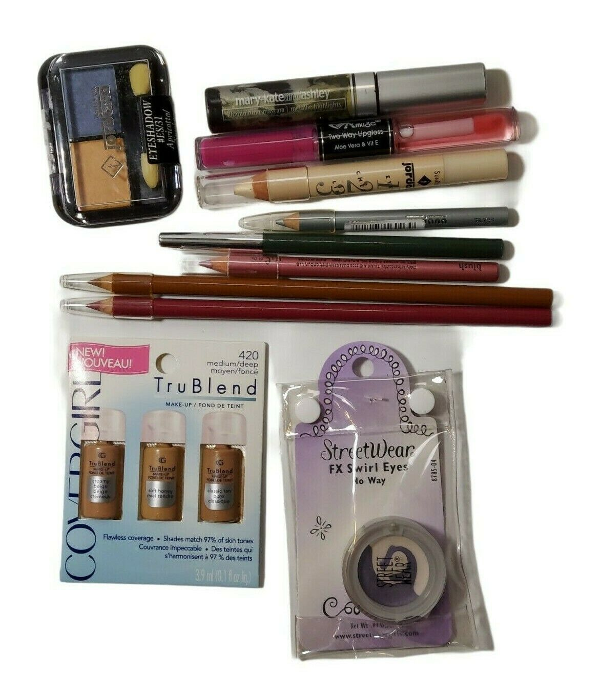 11 Piece Mixed Lot Makeup Jordana Mary Kate & Ashley Revlon Cover Girl  - $6.99