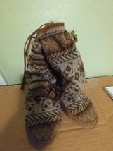 Muk Luks Tan Brown Tall Sweater Boots  - $9.00