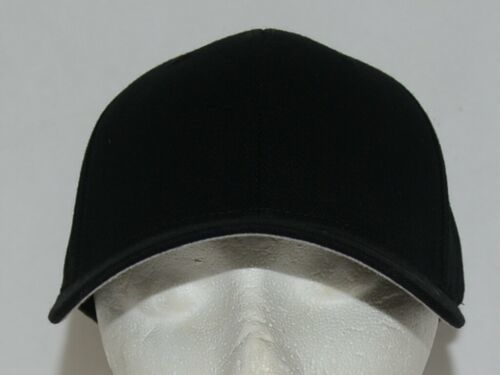 Flexfit Black 6277 Twill Hat S M Permacurv Visor With Silver Undervisor