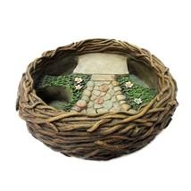Mini Fairy Garden Bird Nest Planter Pot For DYI Decorative Miniature Fai... - $31.97 CAD