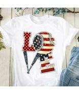 Love Basball US Flag Men T-Shirt Cotton S-6XL - $15.98+